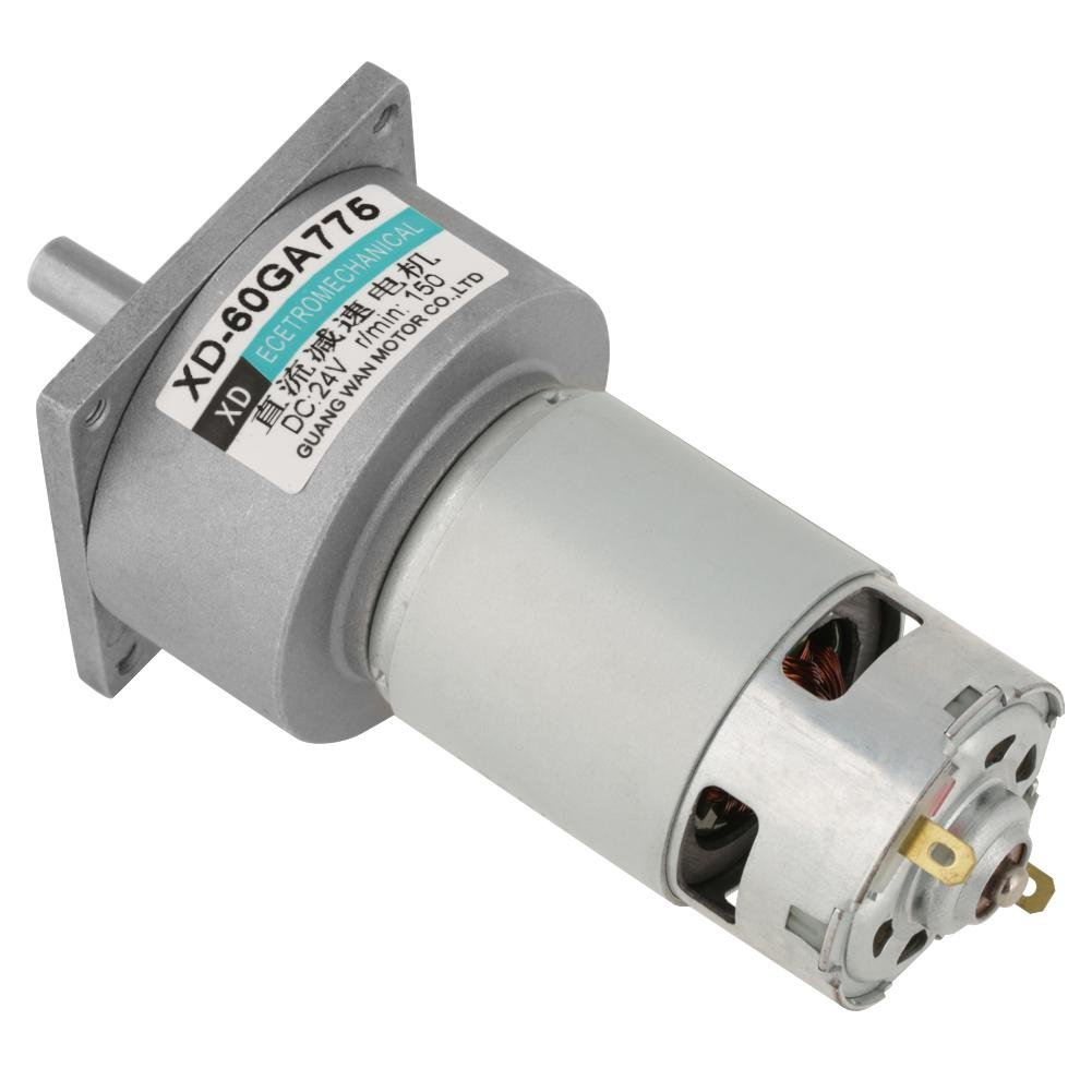 DC 12//24V 35W Adjustable Micro Speed Reducer Gear Motor CW//CCW Mini High Torque Speed Reduction Gearbox 12V 5RPM