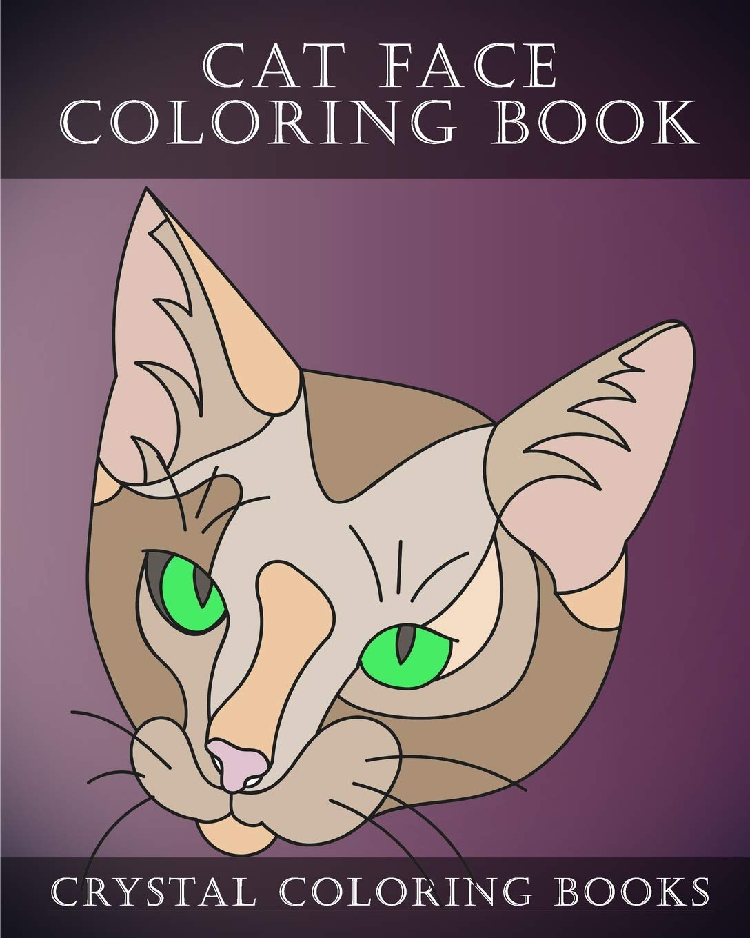 Cat Face Coloring Book 30 Easy Line Drawing Cat Face Coloring