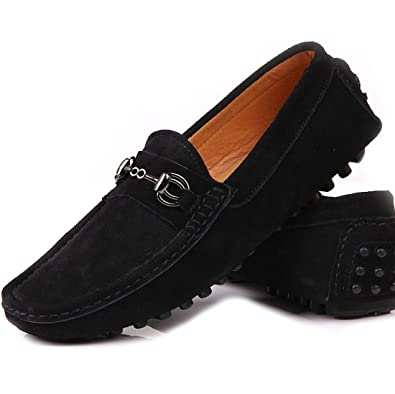 Men's Leather Slip-On Loafer Driving Shoes