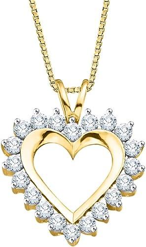 KATARINA Diamond Cross Pendant Necklace in Gold or Silver 1//4 cttw, I-J, I1-I2