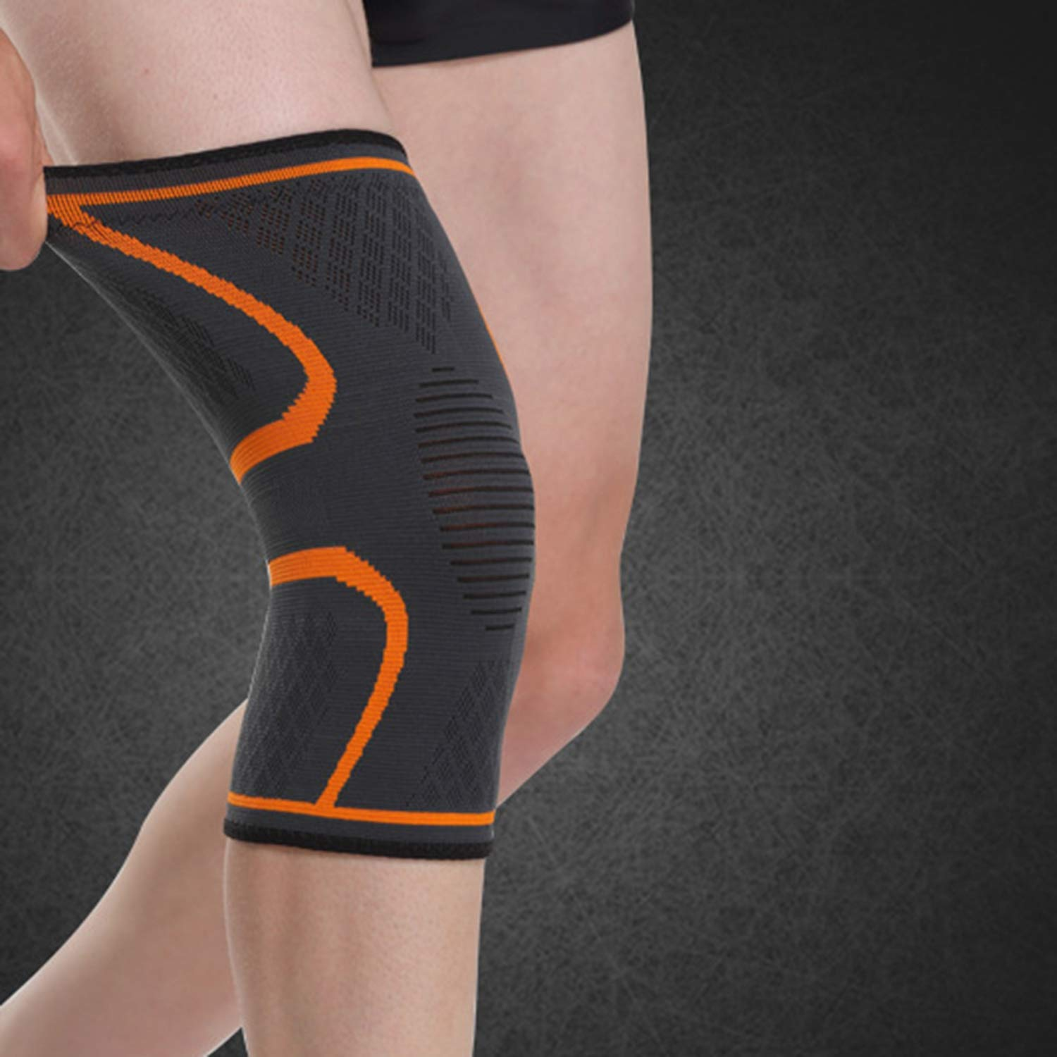 Elbow Pads//Knee Pads,1PCS Fitness Running Cycling Knee Support Braces Elastic Nylon Sport Compression Knee Pad Sleeve for Basketball Volleyball