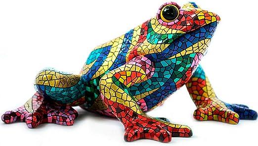"Length 8 centimeters model /""Carnival/"" mosaic Barcino Ceramic frog statue"