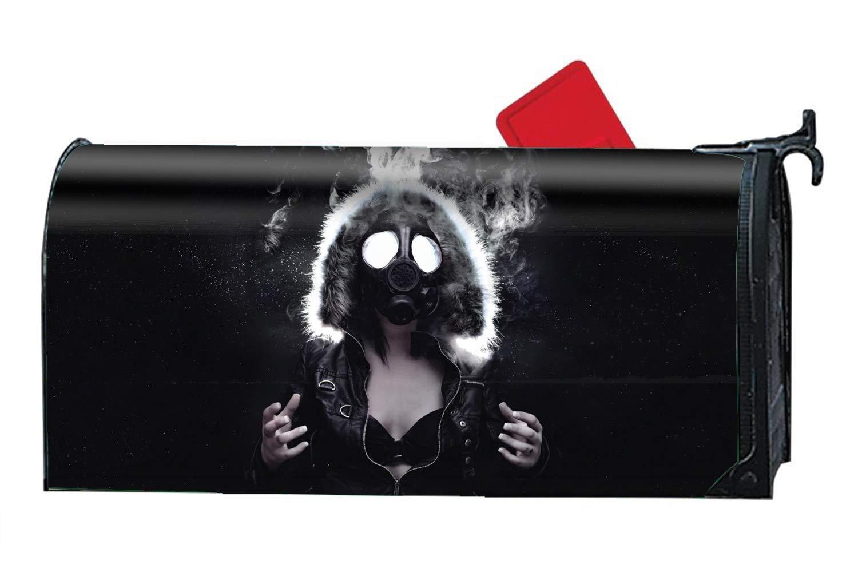 FunnyLife Dark Women Magnetic Mailbox Cover Welcome Seasons Mailbox Wrap Standard
