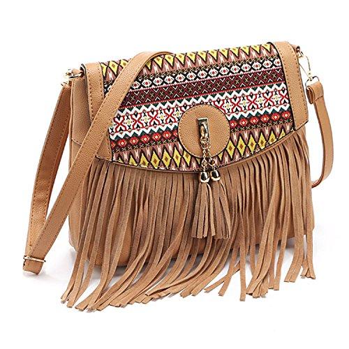 KDHJJOLY Practical bags handbags women famous brands 2016 fringe tassel bag  female bolsas de marca fashion cross body shoulder bag Black Chic  Handbags   ... fa6dc31a9c2ec