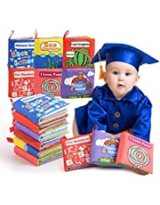 Baby's First Soft Books with Rustling Sound,Non-Toxic Cloth Books Toy Set for Newborns, Infants, Toddlers & Kids.Perfect for Baby Toy Gift Sets Baby Shower (6pcs)