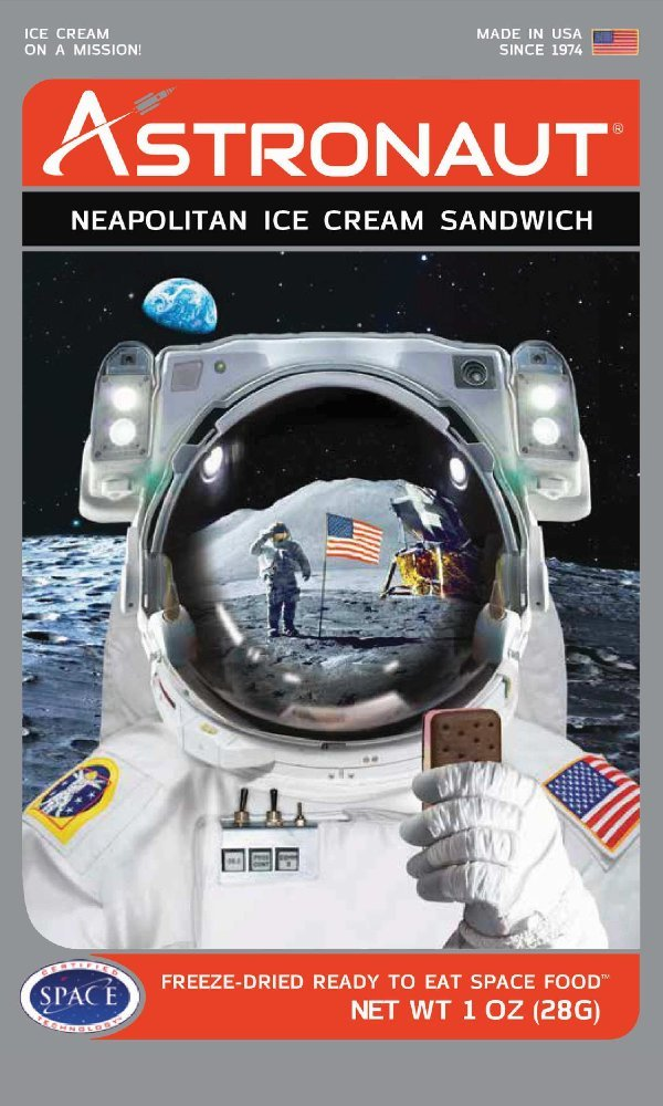 Astronaut Foods Neapolitan Ice Cream, 4 Piece