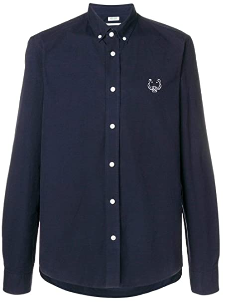 Kenzo Hombre F865ch4001lb78 Azul Algodon Camisa