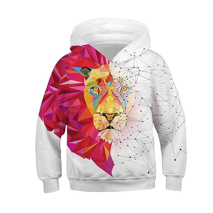 b957291a6288 Longra 2019 Boys Coat - Teen Kids Girl Boy Galaxy Fleece Realistic 3D  Digital Print Pullover Hoodie Hooded Sweatshirt for 4-13 Years   Amazon.co.uk  Clothing