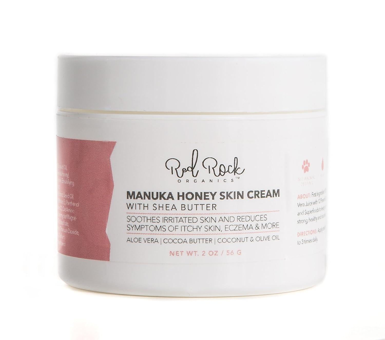 Red Rock Organics Aloe Vera Skin Repair Cream Shea Butter, Manuka Honey, Coconut Oil, Cocoa Butter 2oz