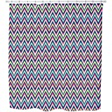 Uneekee Zig Zag Mission Shower Curtain: Large Waterproof Luxurious Bathroom Design Woven Fabric