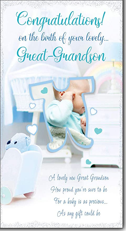 Congratulations Card On The Birth of Your Great Grandson