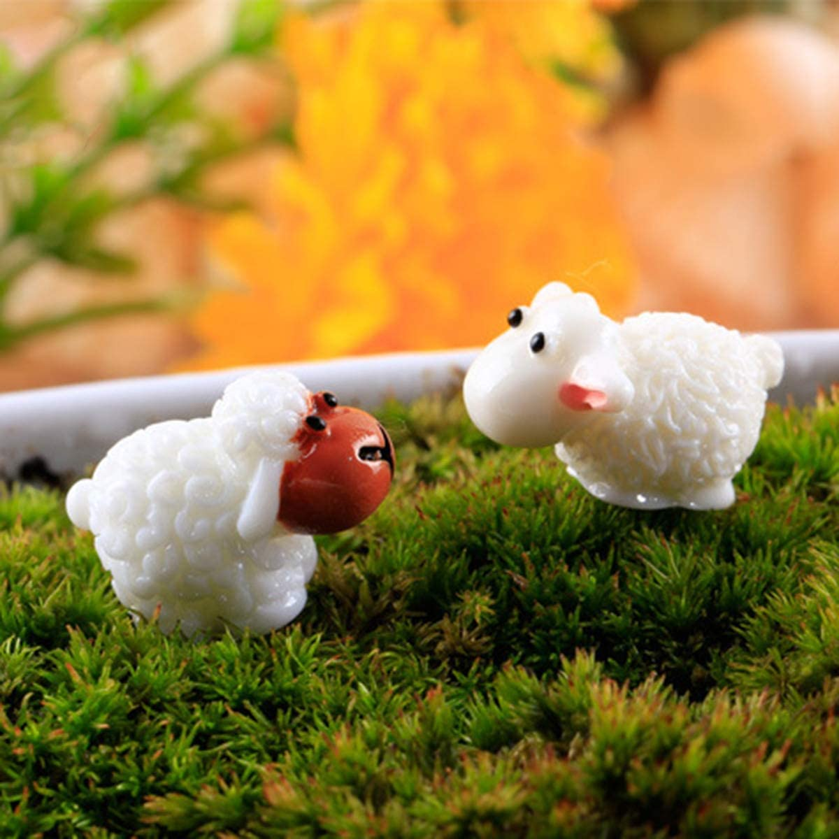 AAA 20 Pcs Miniature Fairy Garden Herd Sheep