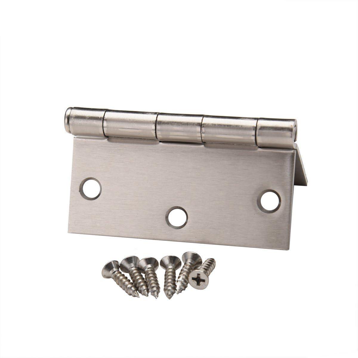 Pack of 24 East West Consolidated 61968 3.5 Square Edge SN Satin Nickel Steel Door Hinge