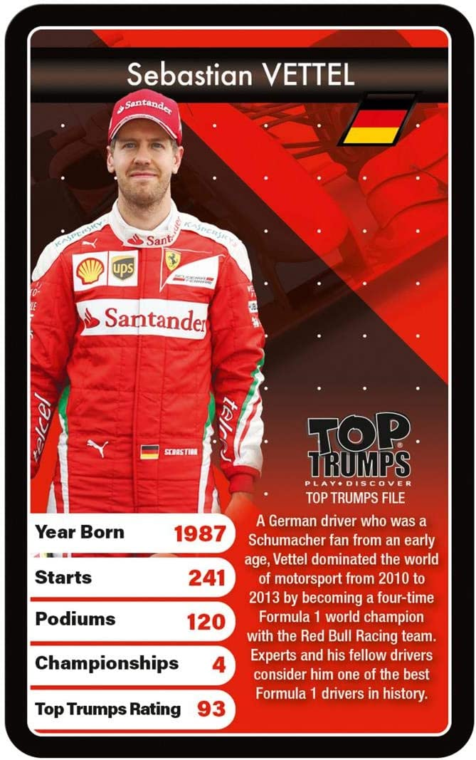 Top Trumps WM00319-EN1-6 Grand Prix Heroes
