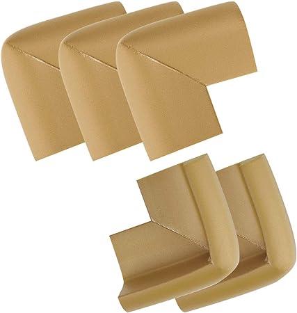 uxcell U Shape Corner Guard Home Furniture Edge Protector Cushion 5 Pcs White