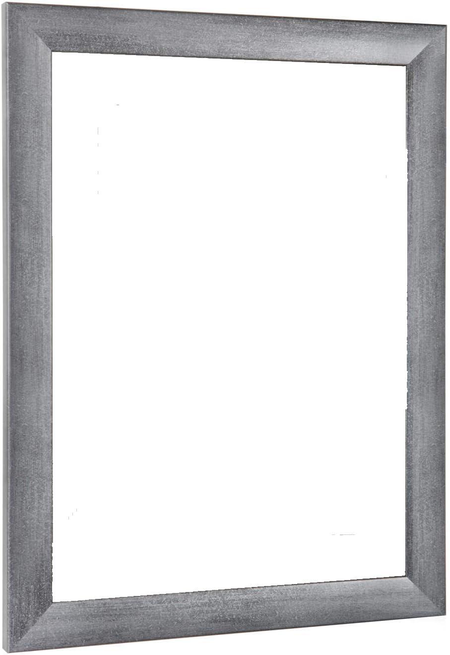 NiRa35-Top Cadre Photo 10x10 cm en Couleur Gris Flou avec Verre Acrylique antireflet