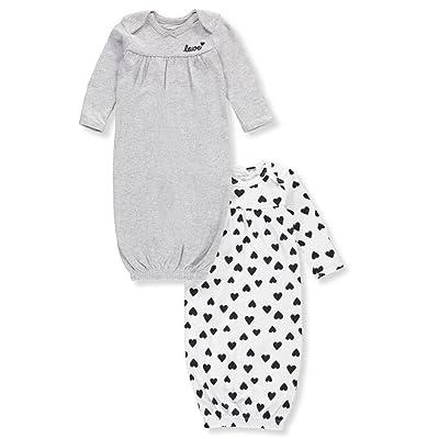 de75a97a6d05 Carter's Baby Girls' 2-Pk. Babysoft Sleeper Gowns [5WefJ0704873 ...