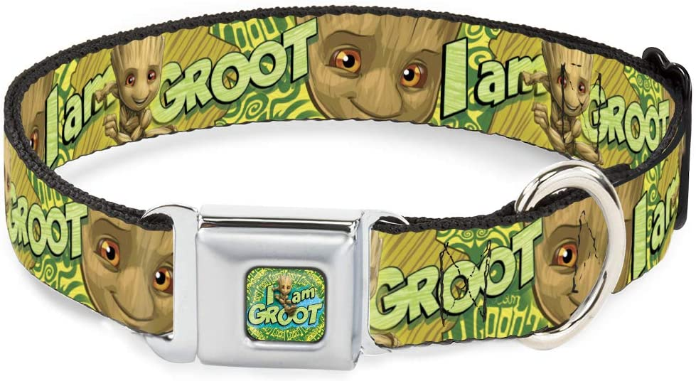 Dog Collar Seatbelt Buckle Baby Groot I Am Face Now on sale Purchase Brown Pose