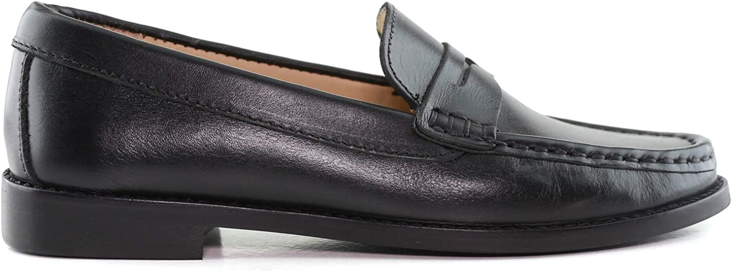 Driver Club USA Kids Boys//Girls Genuine Leather Made in Brazil Greenwich Penny Loafer