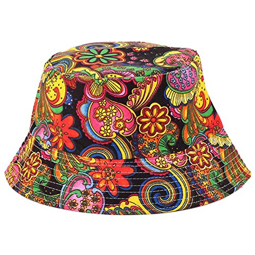 Anjoy-Fashionable-Unisex-Satin-Lined-Printed-Pattern-Cotton-Bucket-Hat