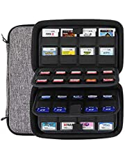 Sisma 72 Game Card Holders Storage Case for 40 Nintendo Switch PS Vita Games SD Cards and 32 Nintendo 3DS 2DS DS Games - Gray