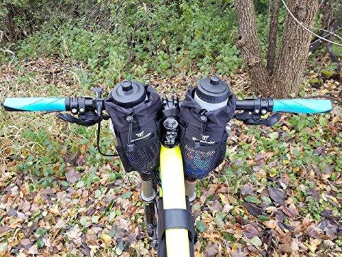 Moosetreks Bike Handlebar Stem Bag | Food Snack Storage, Water Bottle Holder | Bikepacking, Bicycle Touring, Commuting, Insulated Pouch by Moosetreks (Image #6)