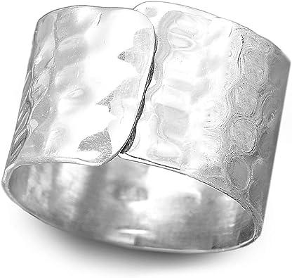 925 Sterling Silver Plain Adjustable Band Ring