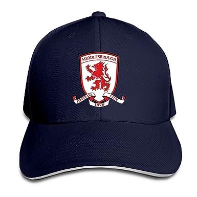 a17de4ea1d3 YA-HiUK Middlesbrough Football Club Peaked Baseball Cap Snapback Hats   Amazon.co.uk  Clothing