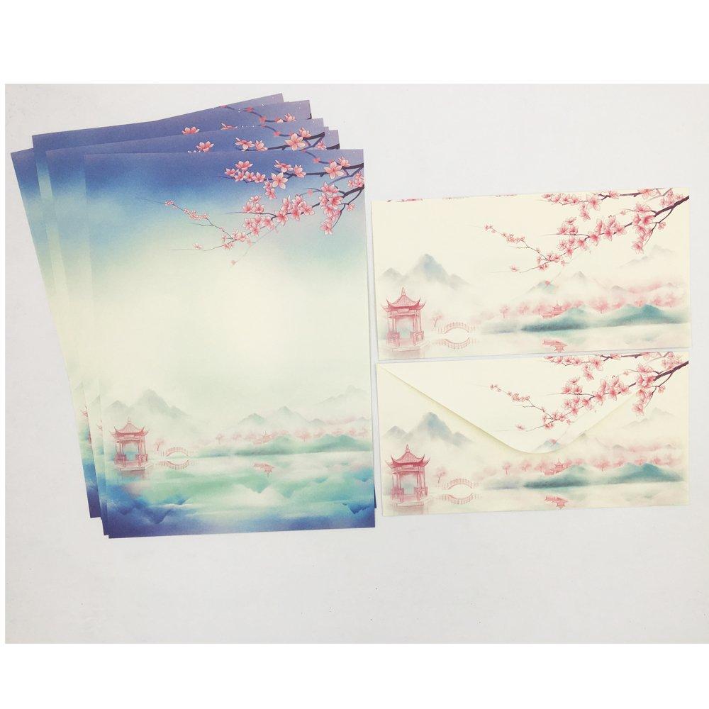 Amazon.com: qinglanjian diseño Retro de la flor papel de ...