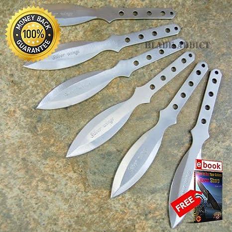 6 Pc 5.5 Ninja Tactical Combat Kunai Knife Set Sheath NEW ...