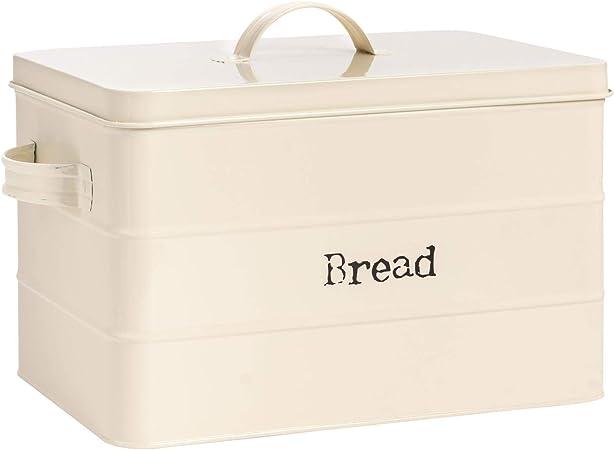Cucina in Acciaio Bagagli Caddy con Guarnizione in Gomma 22,5 Centimetri Nero Harbour Housewares Contemporary Bread Bin