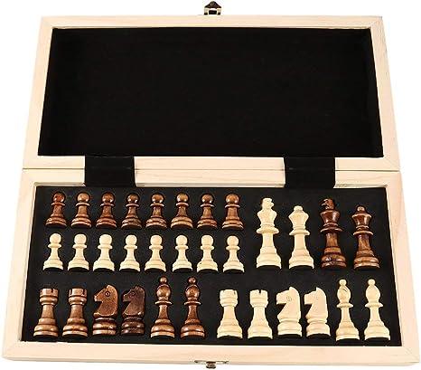 Goldyqin Concurso Internacional de enseñanza de Juegos de ajedrez Ajedrez de Gran tamaño Caja de Regalo Premium Tablero de ajedrez de Madera Maciza: Amazon.es: Juguetes y juegos