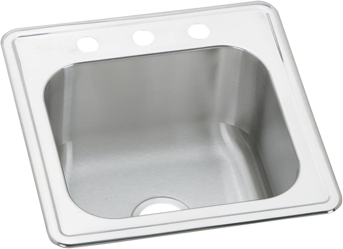 Elkay ESE2020103 Celebrity Single Bowl Drop-in Stainless Steel Laundry Sink