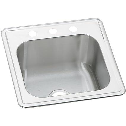 elkay celebrity ese2020103 single bowl top mount stainless steel rh amazon com