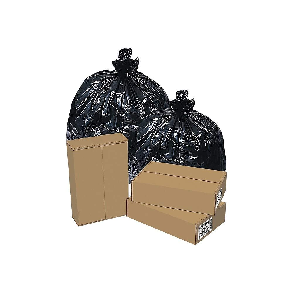 Brighton Professional High Density Super Heavy Strength Trash Bags, Black, 33 Gallon, 200 Bags/Box