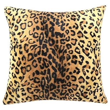 Cuscini Leopardati.Waygo Federa Per Cuscino Leopardata 45 Cm X 45 Cm Decorazione