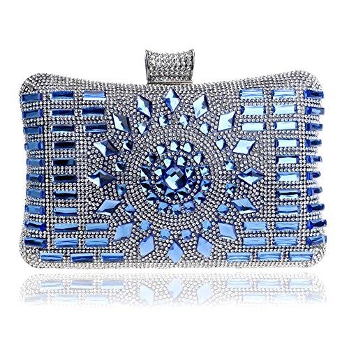 MSFS Out Blue Wedding Party Diamond Clutch Shoulder Women Handbag Evening Dress Bags Chain r7r4twx
