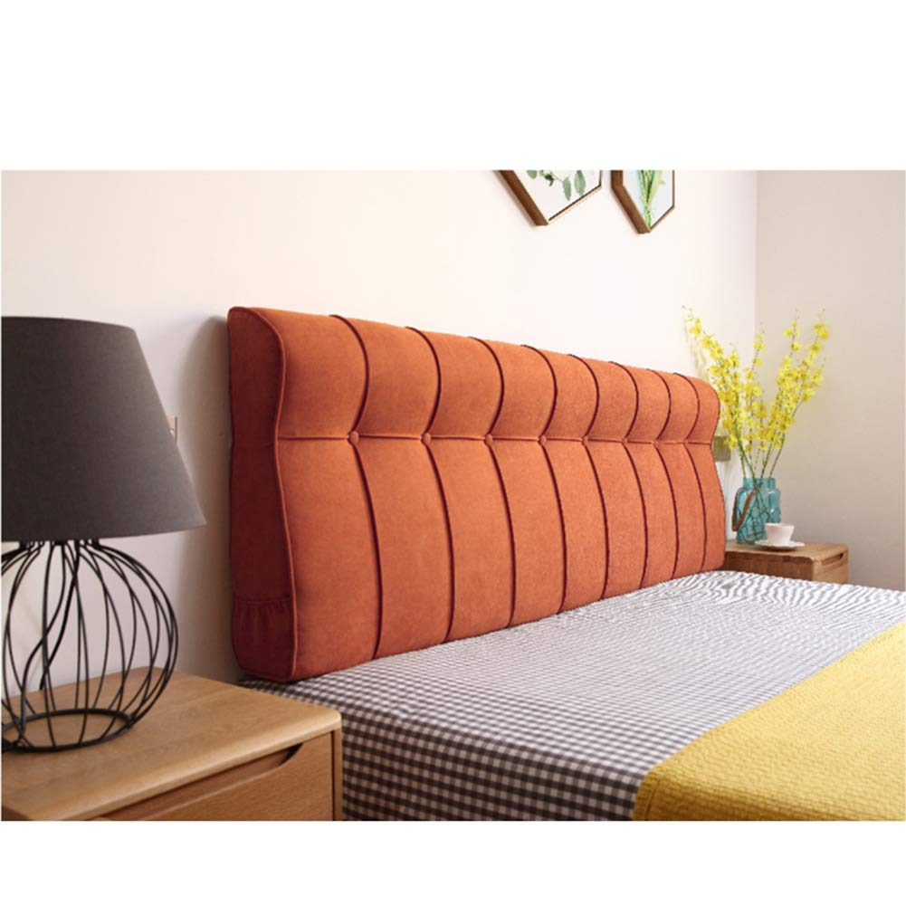 Ainni Lumbar Pad Backrest Bedside Back Cushions, Large Reading Pillow Headboard Pillow Cushion Soft Backrest Pillow for Day Bed Bunk Bed-Orange 59x24x4inches(1506010cm)