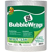 """Duck Brand Bubble Wrap Roll, Original Bubble Cushioning, 12"""" x 60', Perforated Every 12"""" (287007), Pack of 2"""