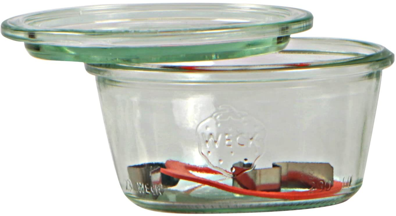 Weck Bote de 370 ml, con tapadera de 100 mm, con Junta y Clips ...