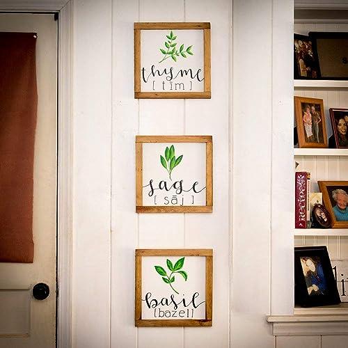 Amazon Com Fresh Herbs Signs Full Set Farmhouse Kitchen