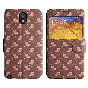 LEOCASE mariposa de color rosa Funda Carcasa Cuero Tapa Case Para Samsung Galaxy Note 3 N9000 No.1003524