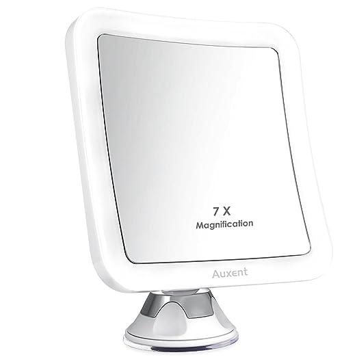 39 opinioni per Auxent Specchio da trucco LED Ingrandimento 7X Specchio cosmetico illuminato LED