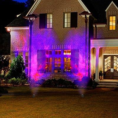 Lightshow Projection Spot Light Fire and Ice (Purple Orange) Halloween