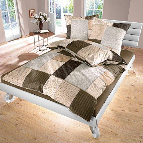 Fabio - SoulBedroom 100% Coton Parure de lit (Housse de couette 200x200 cm & 2 Taies d'oreiller 65x65 cm)