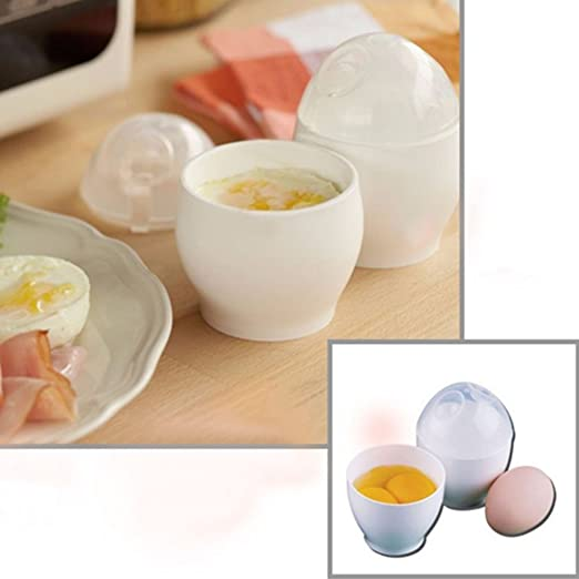 merssavo steamed Egg Pot plástico Microondas Cuecehuevos ...