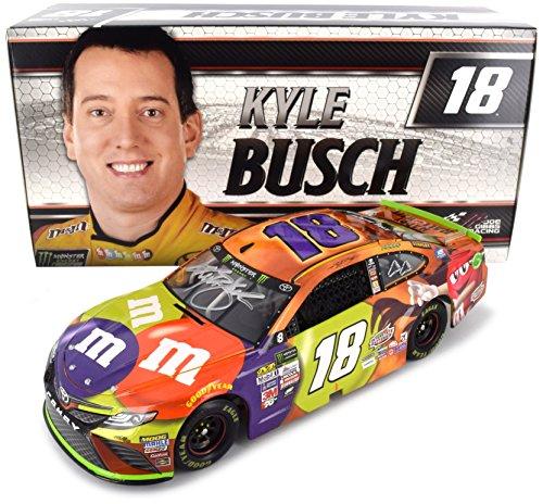 Lionel Racing Autographed Kyle Busch 2017 Halloween M&M's NASCAR Diecast 1:24 Scale for $<!--$199.99-->