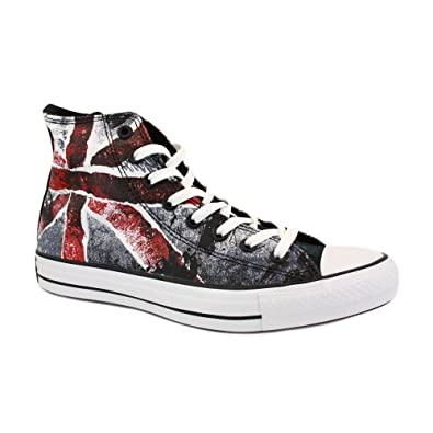 00c7f1aa58b9 Converse Unisex Adults  Chuck Taylor All Star Adulte Destroyed UK Flag Hi Hi-Top  Sneakers