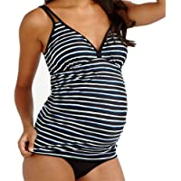 c523dc468f33f EastElegant Maternity Swimwear/Maternity Two Pieces Swimsuit/Stripes Pregnancy  Tankini Set
