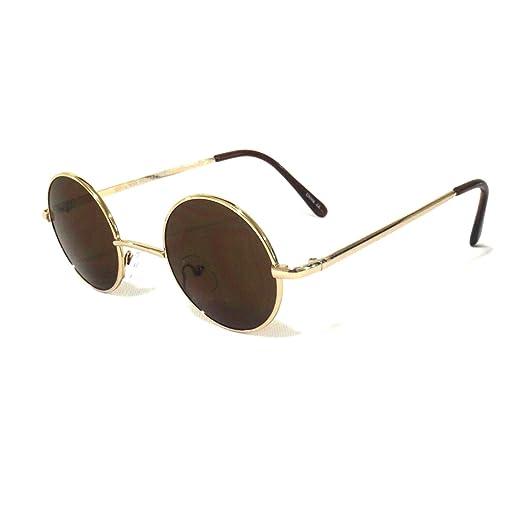 fa5bc576d740 Amazon.com: Vintage Retro Classic John Lennon Style Circle Round Sunglasses  For Small Faces.: Clothing